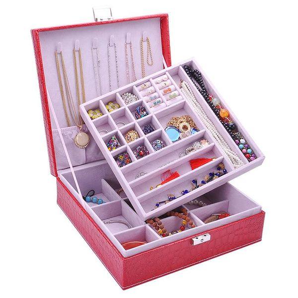 New crocodile leather square jewelry box storage box NHHW144382