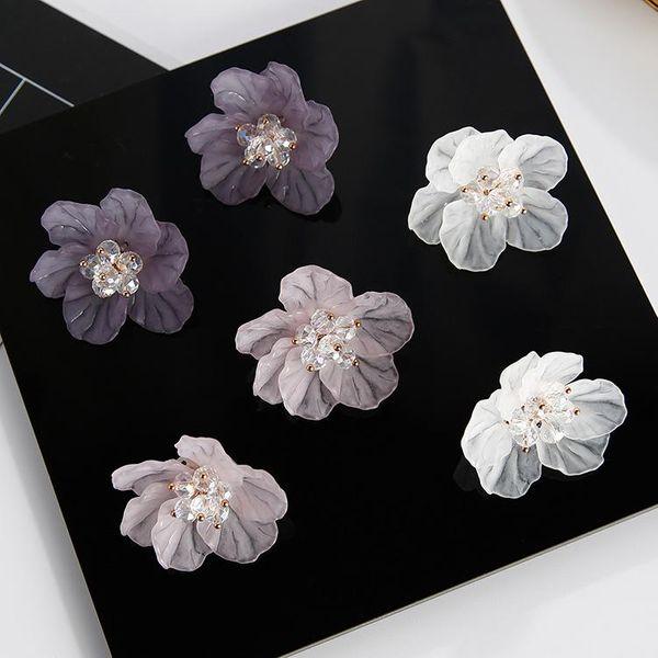 Womens Floral Plating Alloy Earrings NHMS144562