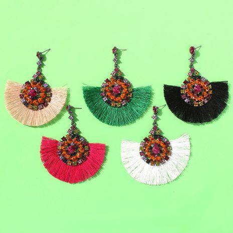 Womens Geometric Alloy  Rhinestone  Tassel Earrings NHMD144564's discount tags