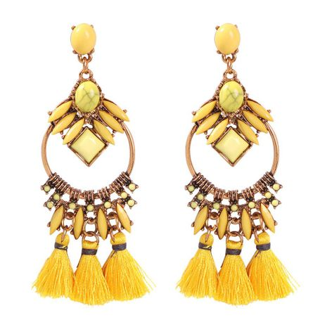 Womens Geometric Alloy  Resin  Tassel Earrings NHMD144566's discount tags