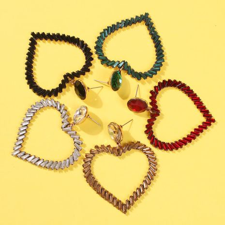 Womens Geometric Alloy  Rhinestone Earrings NHMD144579's discount tags