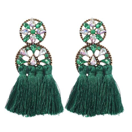 Fashion openwork round rhinestone studded scalloped stud earrings NHMD144580's discount tags