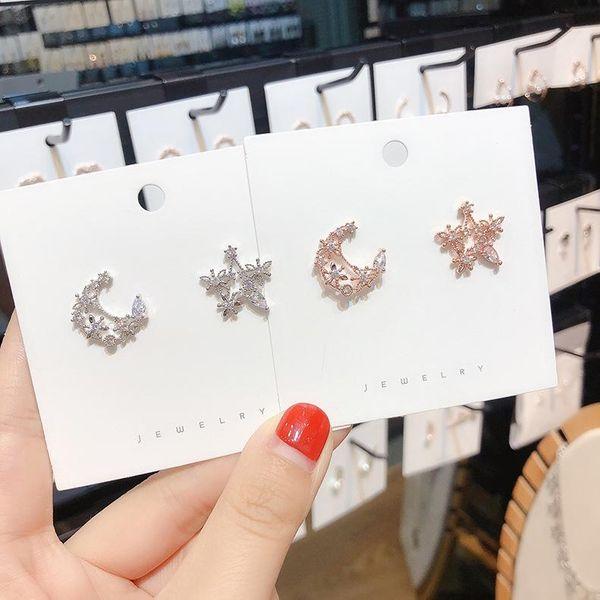 Aretes de cobre Star Zircon Star para mujer NHMS144601