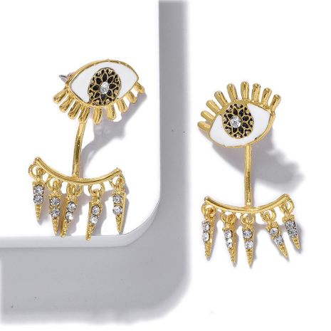Fashion copper inlay zircon eye earrings NHJQ144674's discount tags