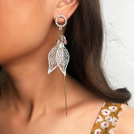 Fashion leaf alloy earrings NHNZ144687's discount tags