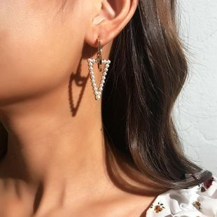 Fashion C-shaped alloy beads earrings NHNZ144714's discount tags