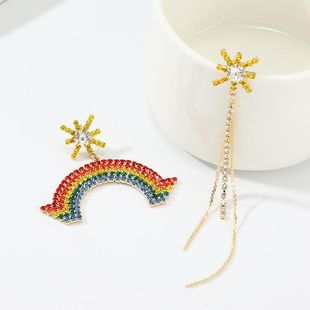 New rhinestone-studded earrings NHNZ144744's discount tags