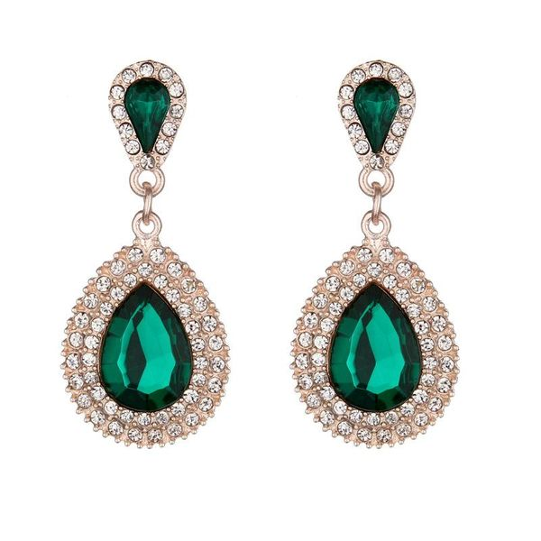 Fashion full rhinestone drop earrings NHNZ144751