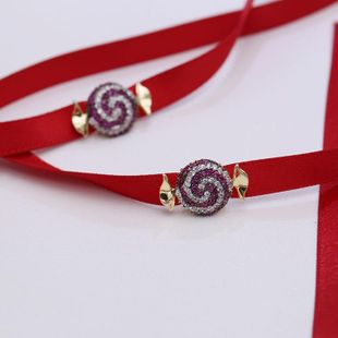 Fashion zircon ribbon necklace rope NHDO144767's discount tags