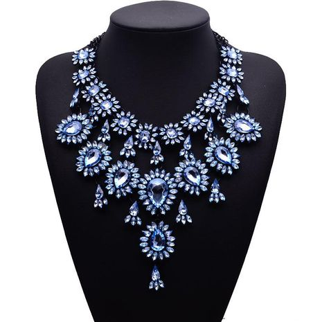 New rhinestone-studded necklace NHJQ144789's discount tags