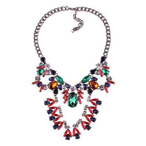 Fashion long color rhinestone necklace NHJQ144801's discount tags