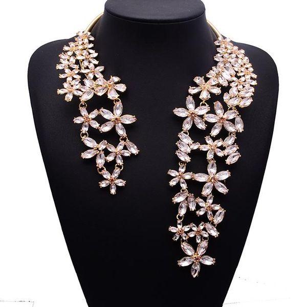 Fashion rhinestone large necklace NHJQ144811