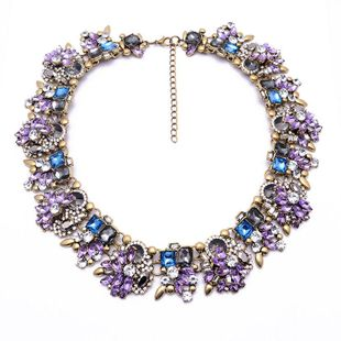 Fashion rhinestone alloy large necklace NHJQ144818's discount tags