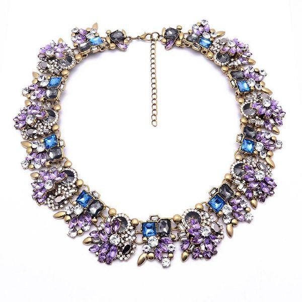Fashion rhinestone alloy large necklace NHJQ144818