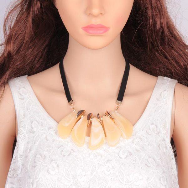 Vintage geometric irregular necklace NHJQ144821