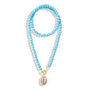 Fashion Beads New Turquoise Necklace NHJQ144826's discount tags