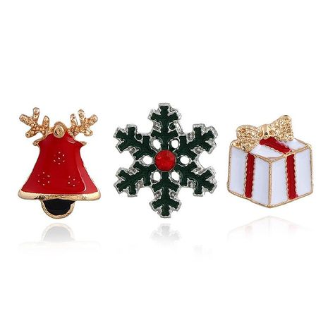 Fashion New Christmas Socks Elk Christmas Tree Snowman Drip Oil Studded Brooch NHNZ144830's discount tags