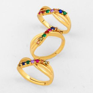 Stylish copper inlay zircon color ring NHAS144835's discount tags