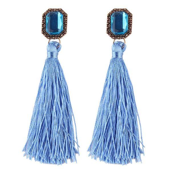 Womens geometric hand-woven alloy  Earrings NHJQ139068