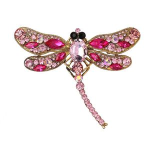Vintage glass series rhinestone butterfly brooch NHJJ139082's discount tags
