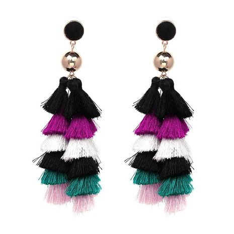 Stylish minimalist multi-layer tassel earrings NHJJ139119's discount tags