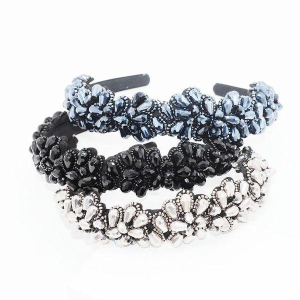 Fashion hand-stitched rice beads snowflake headband NHWJ139187