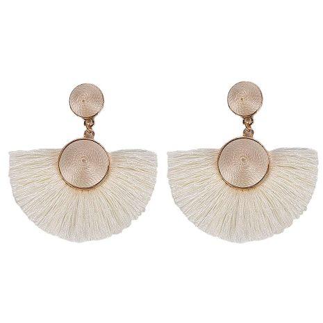 Fan-shaped Korean tassel earrings NHJQ139220's discount tags