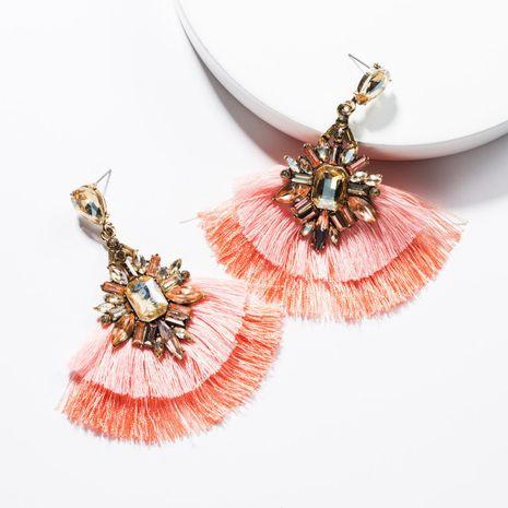 Acrylic rhinestone multi-layer tassel earrings NHJE139223's discount tags