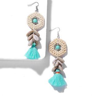 Bohemian ethnic wind vine grass bamboo tassel earrings NHJQ139230's discount tags
