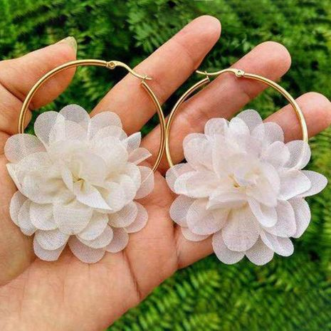 Fashion simple three-dimensional flower bud earrings NHMD139231's discount tags