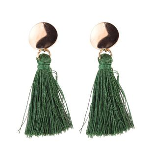 Womens Heart-Shaped Rhinestone Alloy Earrings NHJQ139237's discount tags