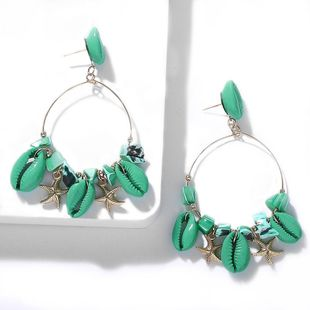 Natural Shell Starfish Cool Ocean Earrings NHJQ139239's discount tags