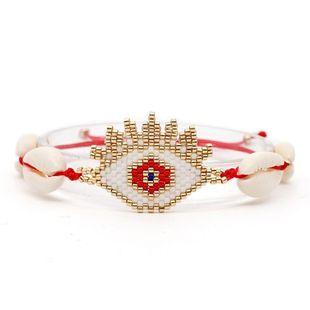 Seaside beach shell woven eye bracelet NHGW139240's discount tags