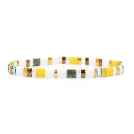 Fashionable rice bead woven bracelet NHGW139241's discount tags