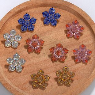 Fashion rhinestone-studded earrings in full color NHJQ139251's discount tags