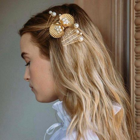 Fashion holiday shell sea star alloy hair accessories NHMD139261's discount tags