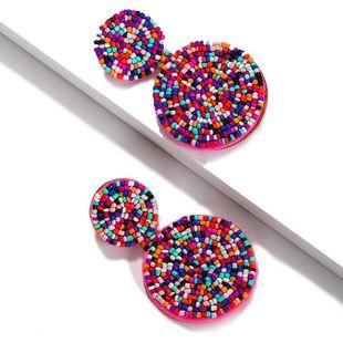 Womens Geometric Round Rice Beads Earrings NHJQ139266's discount tags