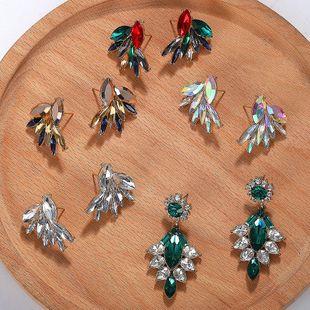 Womens Geometric Rhinestone Shell Beads Earrings NHJQ139270's discount tags