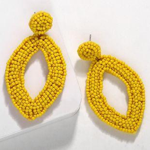 Temperament Love Oval Handmade Rice Bead Earrings NHJQ139274's discount tags