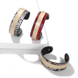 Cactus Leopard Leather Alloy Bracelet NHJQ139275's discount tags