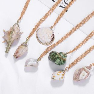Fashion Natural Shell Conch Necklace NHJQ139277's discount tags