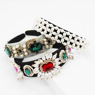 Womens geometric plating alloy Hair Band & Headbands NHWJ139287's discount tags
