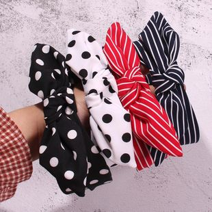 Fashion striped wave point holiday wind bow headband NHMD139292's discount tags