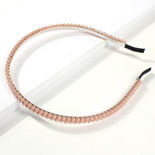 Fashion explosion double row beads headband NHMD139290's discount tags