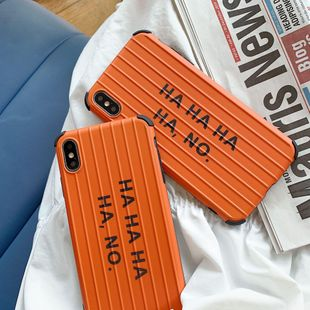 New curved letter iPhone Phone Case Orange NHDV139304 For iphone's discount tags