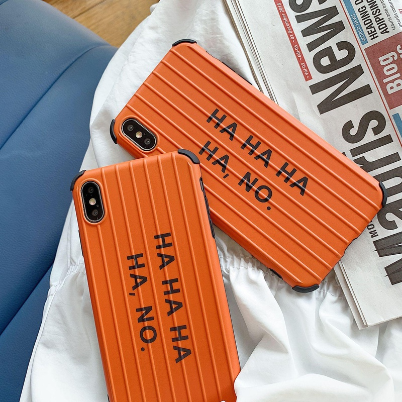 New curved letter iPhone Phone Case Orange NHDV139304 For iphone