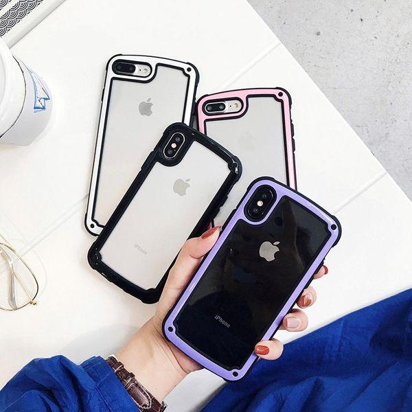 Estuche para iPhone de acrílico simple con borde de gelatina NHDV139351