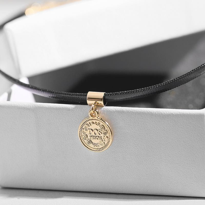 Fashion forest cold wind coin letter choker NHLL144946