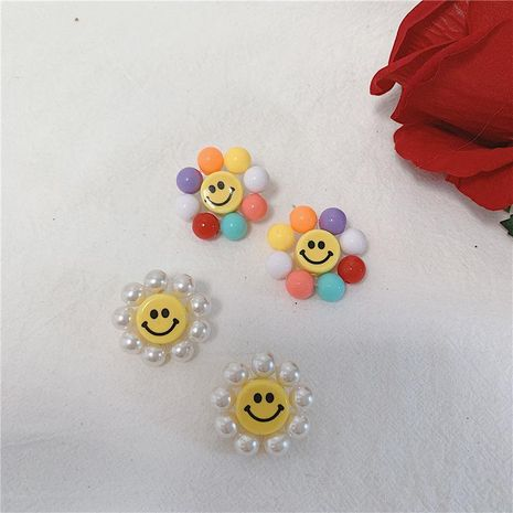 Cute sweet wind color sun flower beads earrings NHYQ145066's discount tags