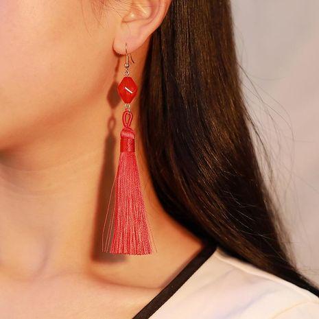 Sleek minimalist multicolor tassel earrings NHDP145097's discount tags